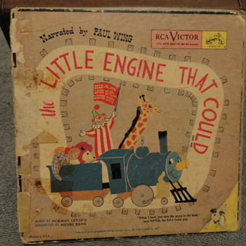 Vintage 1949 The Little Engine That Could RCA book/45s