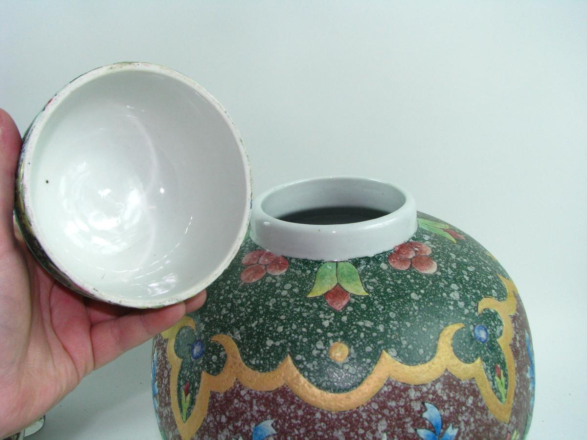 large asian jar w lid chinese ginger jar collectors weekly. Black Bedroom Furniture Sets. Home Design Ideas