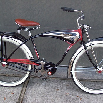 1955 schwinn black phantom bicycle - Sporting Goods