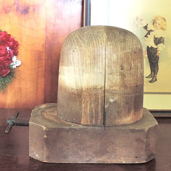 Millnery old wooden block hat stretcher