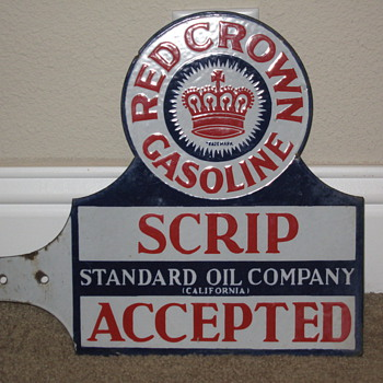 Red Crown Porcelain Double Sided - Signs
