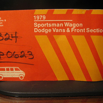1979 Dodge Van  operating instruction booklet
