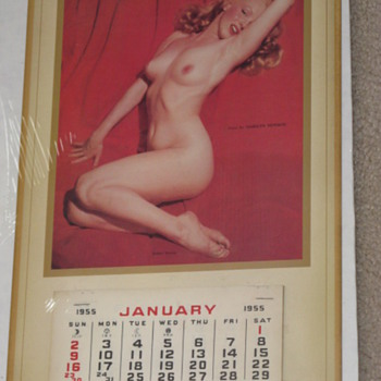 Marilyn Monroe 1955 pinup calendar
