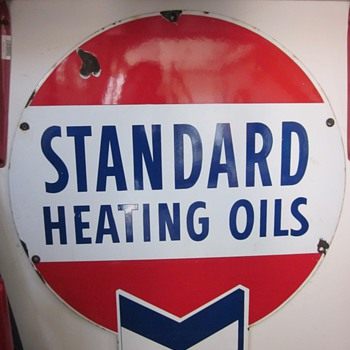 Standard Heating Oils Porcelain Sign - Signs