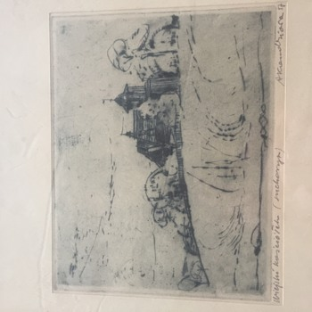 Please Help Identify Signature of Antique Polish Engraving - Visual Art