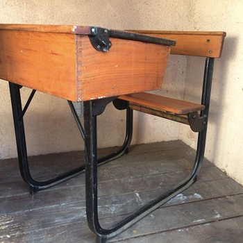 Vintage High-School Desk