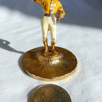 Hattie Carnegie Jockey Bugler figurine, what is it? Trophy, Display, promo, vanity trinket ? - Costume Jewelry