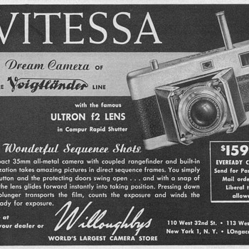 1952 - Voigtlander Camera Advertisement - Advertising