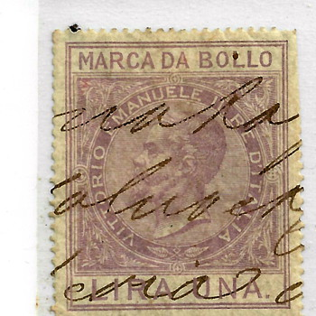 "Victor Emanuel II(Marco polo) """"Revenue Stamp""1863""""  - Stamps"