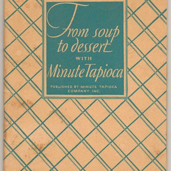 1928 - Minute Tapioca Recipe Book - Books