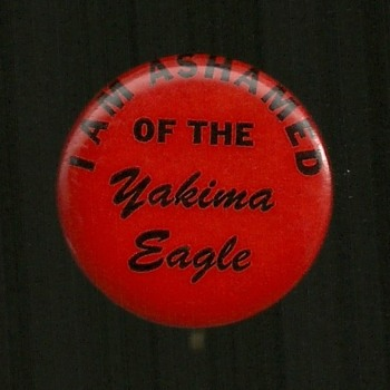 YAKIMA EAGLE Vietnam era pinback button