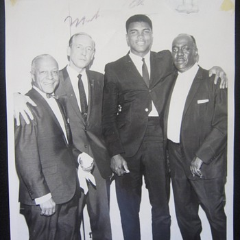 1960's Autographed Muhammad Ali Cassius Clay Photograph -- Who is he with? Where is he?