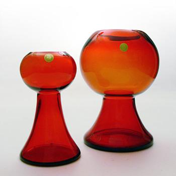 2 vases, Cari Zalloni WMF, c. 1970 - Art Glass
