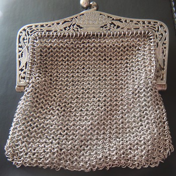Silver Chatelaine purse - Victorian Era