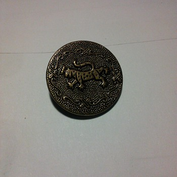 leopard animal button
