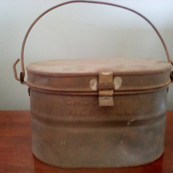 My great uncle,s mining lunch pail. - Kitchen