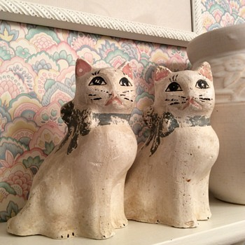 Chalkware Cats - Animals