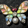 Early 20th century plique-a-jour enamel butterfly brooch.