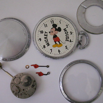 Mickey parts pocket watch