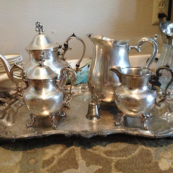Silver on copper tea set?  Can anyone tell me what this means?