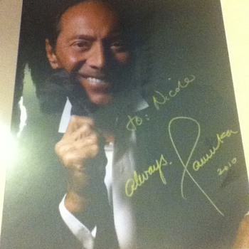 Signed Paul Anka Picture