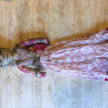 Hand Carved Hindu Doll, Puppet ??? Folk Art