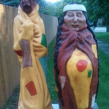 Universal statuary native american comic couple