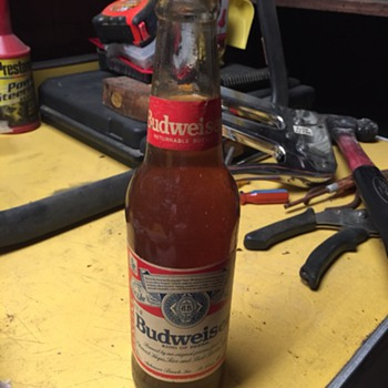 Clear Budweiser bottle zenith never seen lable