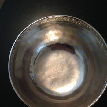 Military Remembrance Bowl - Sterling Silver??  From 1964
