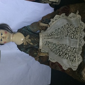 Antique Queen Anne Wooden Doll