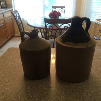 Old whiskey jugs.