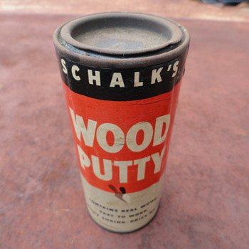 Shalk Wood Putty can - Tools and Hardware