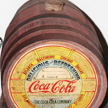 Old 1930s Coca cola syrup keg - Coca-Cola