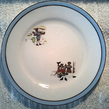 "Noritake ""Child's Nursery Rhyme Plate"" / Simple Simon and Old King Cole Design/ Circa 1920's-30's"