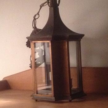 Made In Italy Triple Light Hall Lantern Circa late 1800's