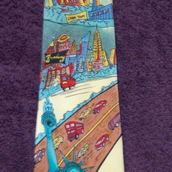 Very Weird NYC Tourist Tie from 1992 - Accessories