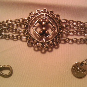Turkish silver plate? chain bracelet