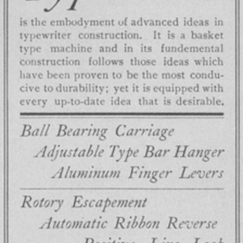 1902 Fox Typewriter Advertisement