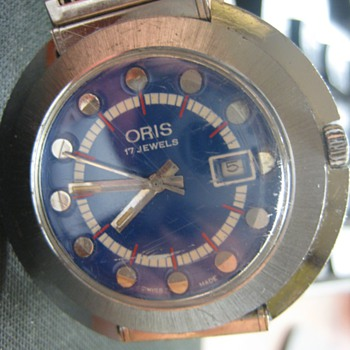 Can you help me? Oris 17 Jewels Stainless Steel with Blue Dial