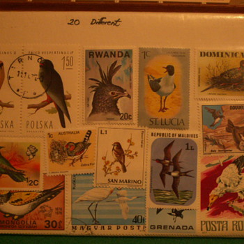 Various Vintage Stamps of Birds + Some F.Y.I. - Stamps