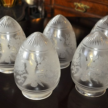 Antique glass lamp shades Saint Louis