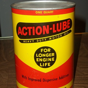 My favorite oil cans! WHITE STAR REFINING and ACTION LUBE