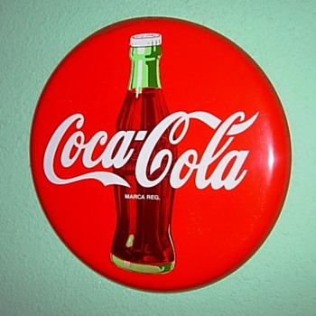 Coca-Cola button sign - Coca-Cola