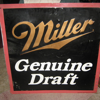 Vintage Miller Genuine Draft Sign - Signs