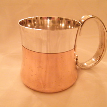 Georg Jensen Tankard  - Copper/Silver ? Value? - Sterling Silver