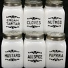 Vintage Depression White Milk Glass Spice Jar Shaker Set
