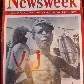 "Newsweek Aug. 20th 1945 ""Japan Defeated"" - Books"