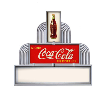 How the 1938 bottle sign was used - Coca-Cola
