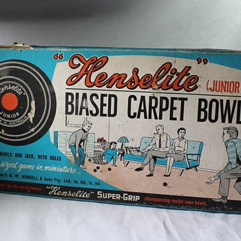 Henselite Junior Carpet Bowls - Toys