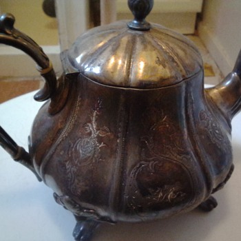 antique silver pewter teapot - Sterling Silver
